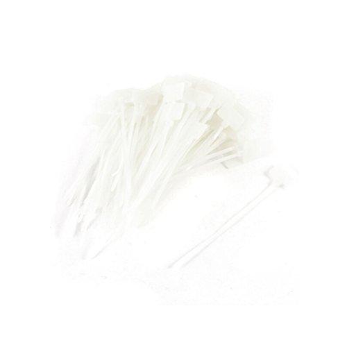 AmgateEu Kabelbinder, 100Stück, zum Beschriften, für Ethernetkabel, Kabel-Markierungen / -Etiketten, Nylon - 3