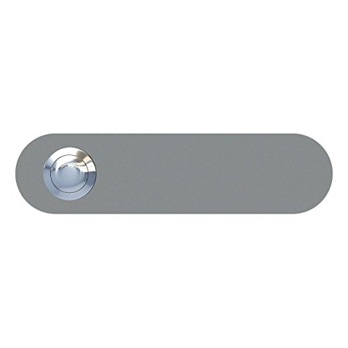 Klingeltaster, Design Klingel, Türklingel Edelstahl pulverbeschichtet Longcircle, grau metallic - Bravios -
