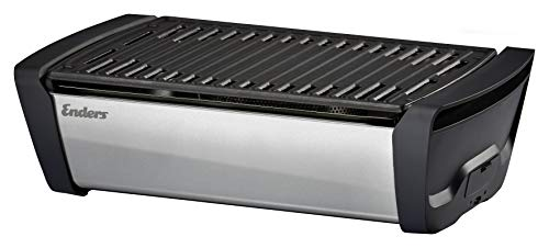 Enders Aurora Mirror - Barbecue a carbonella, Colore: Argento Opaco