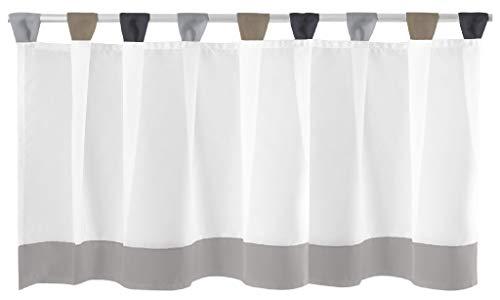 Bistrogardine mit Schlaufen ca. 150x45 cm Auswahl: grau - schwarz