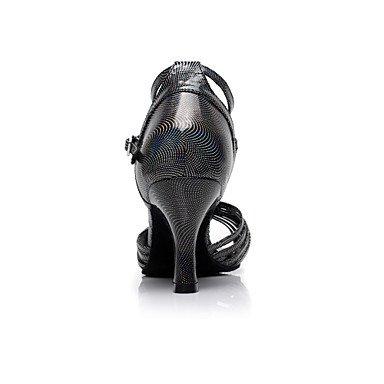 Scarpe da ballo - Non personalizzabile - Donna - Latinoamericano - Tacco a rocchetto - Eco-pelle - Nero Black