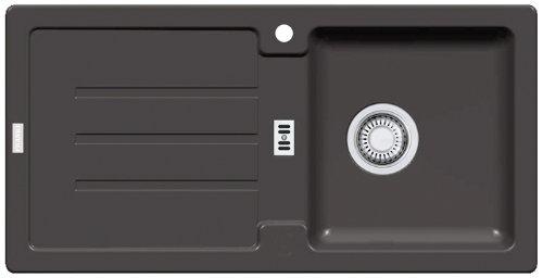 Franke Strata STG 614 Graphit Granitspüle (Einbau Küchenspüle, Naturstein, Eckig) schwarz 114.0259.825
