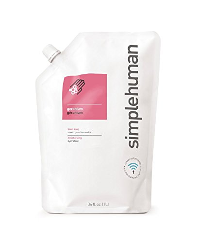 """simplehuman Moisturising 1 Litre """"Geranium"""" Liquid Hand Soap Refill Pouch"""