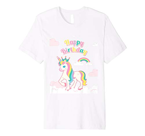 Rainbow Unicorn Birthday T Shirt Girl Outfit