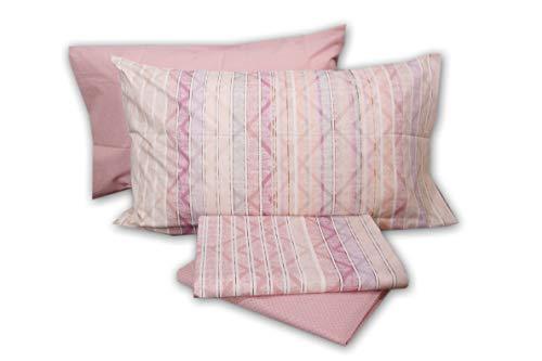 Completo letto lenzuola cotone zucchi basics doppia federa una 1 piazza e mezza 1,5 piazze sopra + sotto + 2 federe (tonic col. 1)