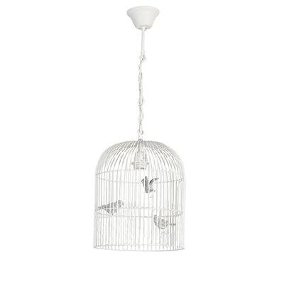 Clayre & Eef, Vogelhaus Cottage Lampe weiss von Clayre & Eef - Lampenhans.de