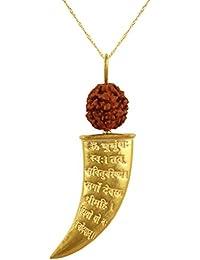 Gayatri Mantra Rudraksha 925 Sterling Silver Gold Palted Pendant