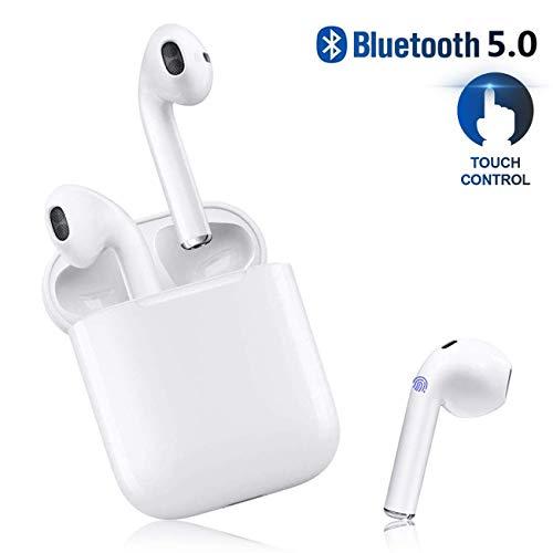 Cuffie Bluetooth,Wireless Auricolari Bluetooth Senza Fili Cuffie In-Ear 24h Playtime 3D stereo HD Cuffie wireless con Microfono,...