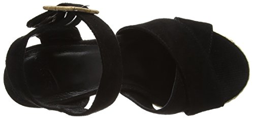 SPM Lamborghini Damen Knöchelriemchen Sandalen Schwarz (Black)