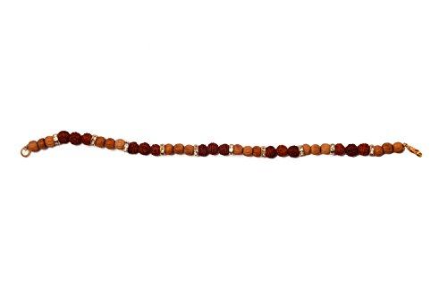 ebf90be6f81b Shree Ji Brother Bhai Rudraksh Crystaland Beads Gold Plated sandalwood  Rakhi Rakshabandhan Bracelet