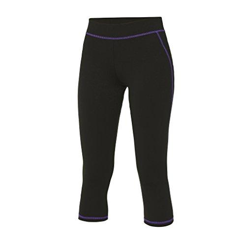 Pantalon été 3/4 Capri Femme Cool Capri 3/4 Pants Jet Black/Purple