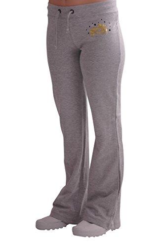 Eyecatch - Décontracté Femmes Graphiques Joggeurs Jogging Survêtement Pantalons Gris avec Noir
