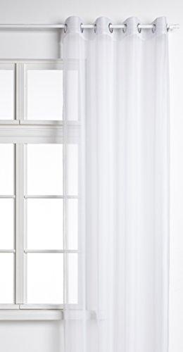 Voile Ösen Schal UNI, 245x140, Weiß, 20332
