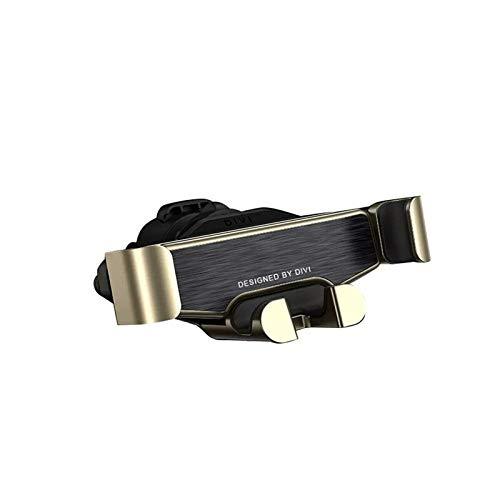 TH999 Divi Metall Gravity Linkage Automatische Sperre Air Vent Car Phone Holder Soporte Movil Suporte Celular Handy-Ständer TelephoneVentilation Telefonhalter (Color : Golden)