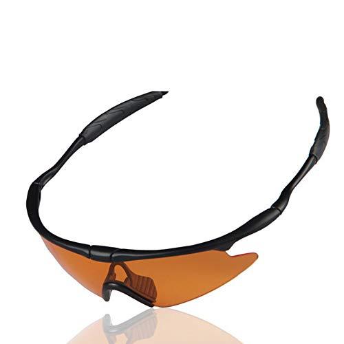 WiaLx Für Männer und Frauen Lightweight Biking Sports Wr Riding Sandblast Glasses Specialist Sport Sonnenbrille 400 Schutz - Laufen/Radfahren/Skifahren/Snowboarden Rahmendesign für Herren und Damen 5