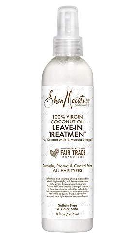 Shea Moisture 100% Virgin Coconut Oil Leave-In Treatment 8oz 237ml feuchtigkeitsspendende Haarkur - Hair Virgin Oil Coconut