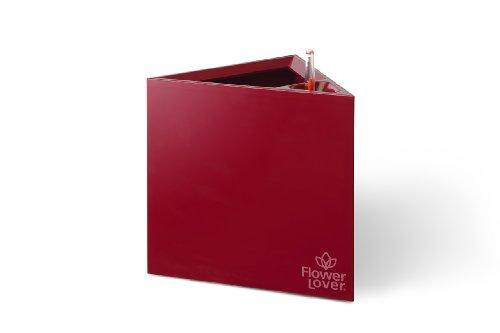 Flower lover Quadrato Pot de fleurs de luxe avec système d'arrosage 21 x 21 x 21 cm 21x21x21 rouge