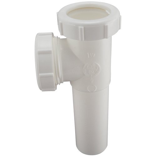Keeney 125WK 1-1/2-Inch Slip Joint End Outlet Tee and Tailpiece, White by Keeney Manufacturing -