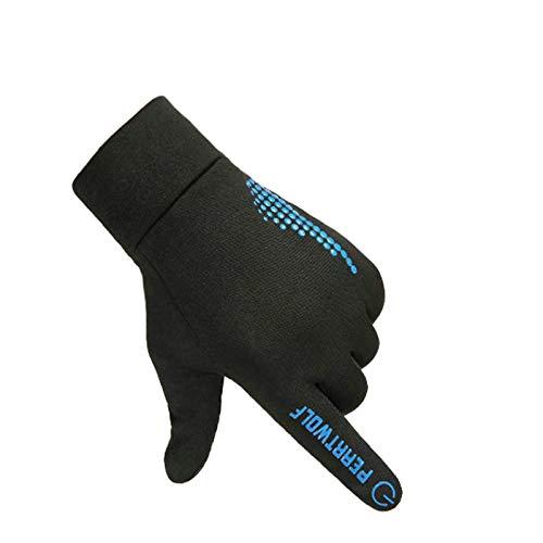 Coniea Bike Handschuhe Winter Winterhandschuhe Herren Klappbar Blau One Size