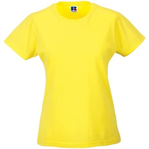 New Russell Slim Fit da donna più Jersey Wear-T-Shirt donna in cotone