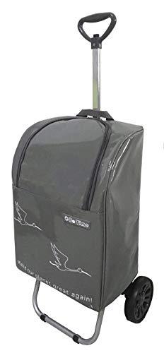 Bo Time Einkaufswagen 2 Räder mit Teleskopgriff - Tasche wasserdicht mit Reißverschluss 35L - Marke