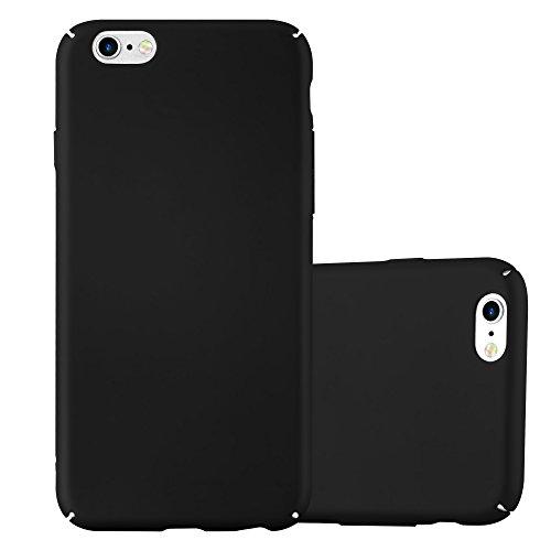 Preisvergleich Produktbild Cadorabo Hülle für Apple iPhone 6 / iPhone 6S - Hülle in Metall SCHWARZ – Hardcase Handyhülle im Matt Metal Design - Schutzhülle Bumper Back Case Cover