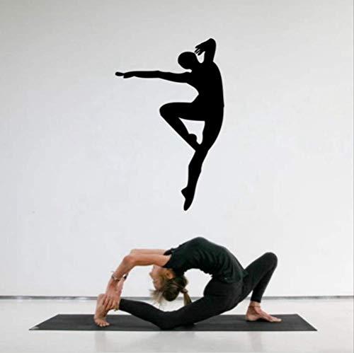 qwerdf Wandaufkleber Große Größe Männer Tanzen Silhouette Wandkunst Dekorationen Für Zimmer Dance Studio School