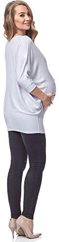 Be Mammy Damen Umstands Bluse BELM156 Weiß