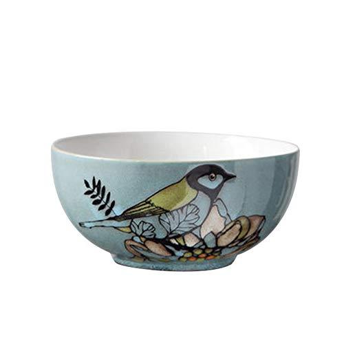 HR Salat/Pasta/Müsli/Snack/Ramen Suppenschüssel, Durchmesser 17 cm, Muster für Vögel und Blumen (größe : 1 Bowl) Scorpion Bowl