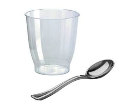 00 ml rund plus 100 Kaffeelöffel, PS Plastik metallisiert 13 cm … ()