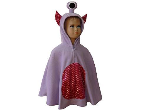 fasching karneval halloween kostüm cape für kleinkinder alien monster lila