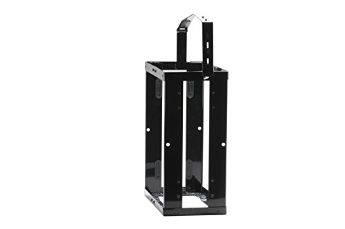 Preisvergleich Produktbild hünersdorff Kanister-Halterung für Metall-Kraftstoff-Kanister 20l, Abschließbar, Schwarz