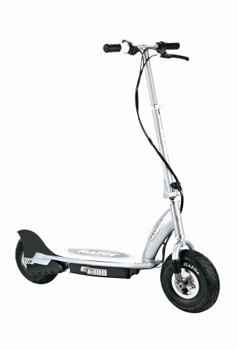 Razor E300- Scooter eléctrico, color plata
