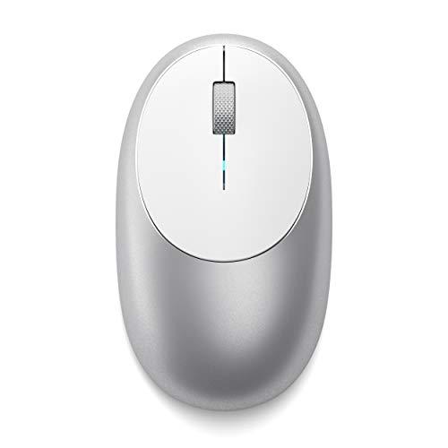 SATECHI M1 kabellose Bluetooth-Maus aus Aluminium Typ-C-Port mit Ladefunktion, kompatibel mit Mac Mini, iMac, iMac, MacBook Pro/Air, Microsoft Surface Go, Laptops, Computern, Tablets und (Silber) - Mac Pro-bluetooth