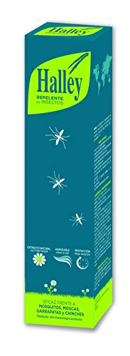 HALLEY Repelente Mosquitos Spray Eficaz Repelente Todo Tipo de Insectos Protección de Larga Duración con Extracto Natural de Pyrethrum | 250ml