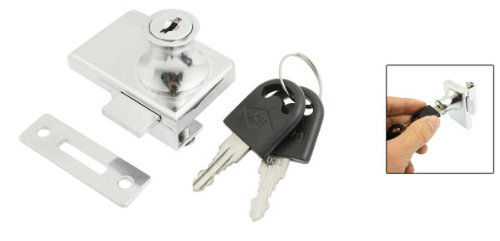 Silber Ton Metall Schlüssel Schrank Schloss für 2/12,7cm 10mm Scharnier Glastür