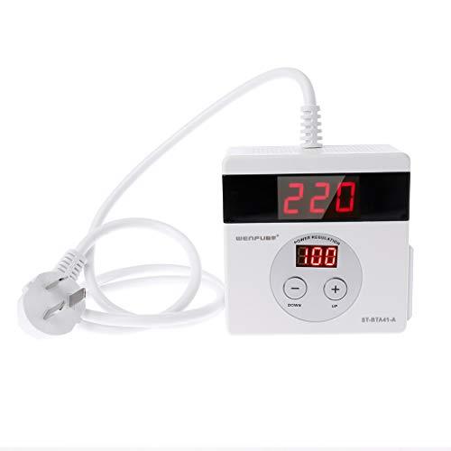 Digital Led Elektronische (BIlinli 4000 Watt SCR Elektronischer Spannungsregler LED Digital AC 220 V Temperatur Geschwindigkeit Regler Dimmen Dimmer Thermostat)