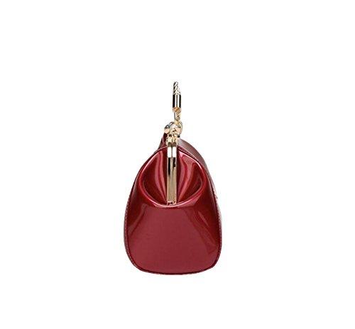 Damen Lavendel Shell Taschen Umhängetasche Abendtaschen Black