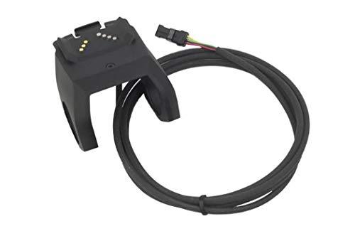 Bosch Displayhalter, für Intuvia und Nyon, 1500 mm, inkl. Kabel zur Antriebseinheit und 3 x 4 Distanzgummis (31, 8 mm, 25, 4 mm, 22, 2mm) Halterung, schwarz, One Size