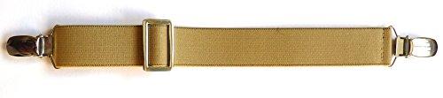 Secret Belt der Gürtel ohne Schnalle nur mit Clips beige One size -