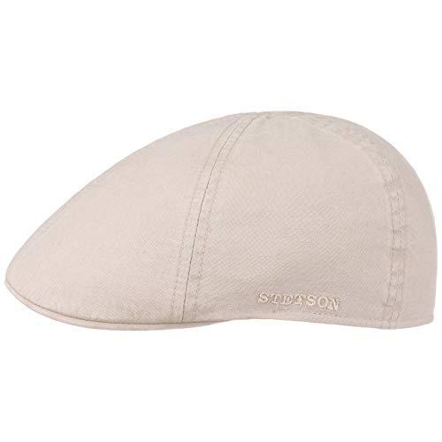 Stetson Texas Organic Cotton Flatcap Herren   Nachhaltige Schiebermütze mit Bio-Baumwolle   Flat Cap mit UV-Schutz (40+)   Herrencap Frühjahr/Sommer   Schirmmütze Natur L (58-59 cm) Cotton Flat Cap