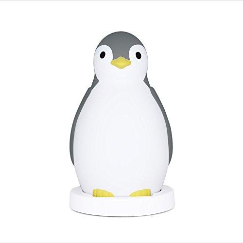zazu-pam-the-penguin-childrens-sleeptrainer-clock-and-night-light-with-wireless-speaker-grey