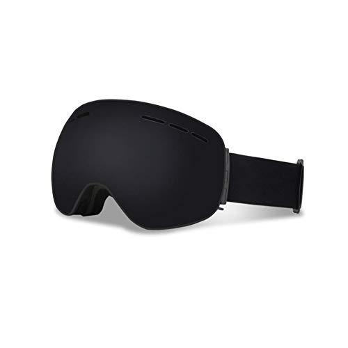 He-yanjing Wandernde Skischutzbrillen der Mode im Freien, Ski-Snowboarding-Schutzbrillen, Berufsskigläser, über Gläsern Ski/Snowboard-Schutzbrillen für Männer, Frauen u. Jugend (Farbe : Schwarz)