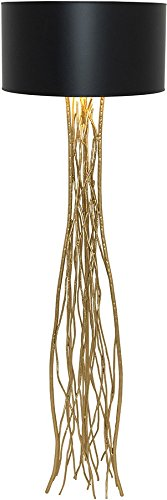 Holländer Stehleuchte Capri 24 Karat Gold Handarbeit,Qualität aus deutscher Manufaktur -
