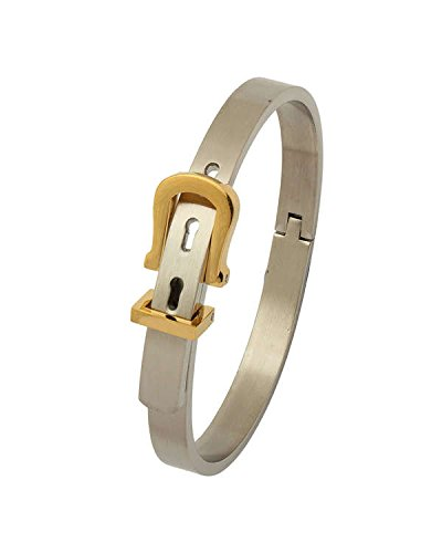 Chandrika Pearls Gems & Jewellers Chandrika Pearls Openable Free Size Matte Glossy Surgical Stainless Steel Kada Bracelet for Men