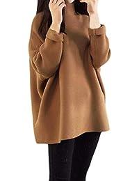 Maglioni Donna Manica Lunga A Collo Alto Caldo Maglieria Pullover Autunno  Invernali Moda Sciolto Spacco Eleganti 1701c8ac969