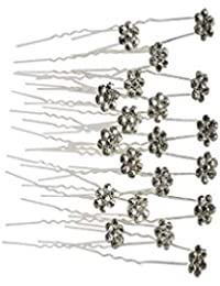 Evogirl Bobby Pins Diamond Wedding Hair Pins Wedding Bridal Salon  Accessories Fancy Flower Dimond Rhinestone Golden b89c02ada58e