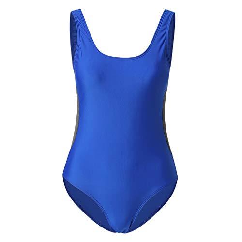 Cross Back Womens Badeanzug (Asalinao Badebekleidung für Damen, Frauen Large Size Strand Badeanzug Split konservativen Badeanzug T-Shirt drucken hoch)