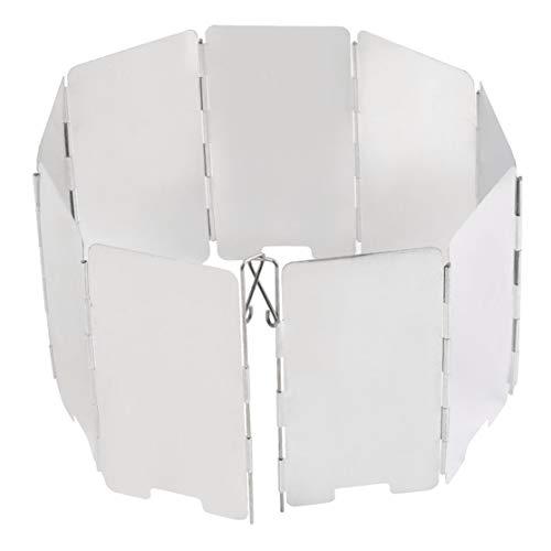 Faltender Mini 9 Platten-Kocher BBQ-Gasherd-Windschild-Schirm-Picknick im Freien Kaemma
