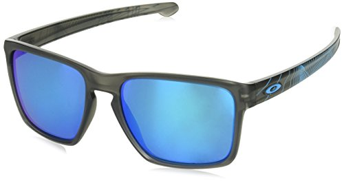 Oakley Men's Sliver Xl 934120 Sunglasses, Matte Grey Smoke Aeroprizmsapphire, 57